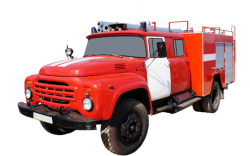 Camión cisterna de bomberos AC 2,5-40 (ZIL-130)