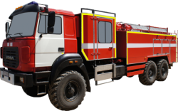 Fire truck AZ 8,0-40 (URAL 4320-80) 2cab