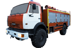Fire truck AZ 4,0-40 (KAMAZ 43502) 1cab