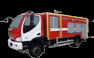 Fire truck AZ 4,2-40 (AVIA D120) 2cab