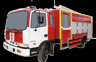 Fire truck AZ 3,2-40 (Hyundai HD120) 2cab