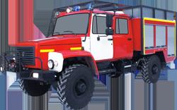 Fire truck AZ 1,6-40 (GAZ 33081) 2cab