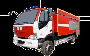 Fire truck AZ 6,2-40 (AVIA D120) 1cab