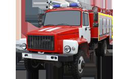 Fire truck AZ 3,0-40 (GAZ 33086) 1cab