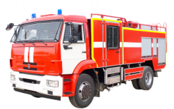 Fire truck AZ 5,5-40 (KAMAZ 43253) 2cab