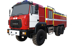 Автоцистерна пожарная АЦ 8,0-70 (Урал 5557-82) 2к