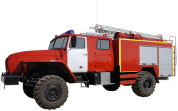 Fire truck AZ 4,0-40 (URAL 43206-61) 2cab